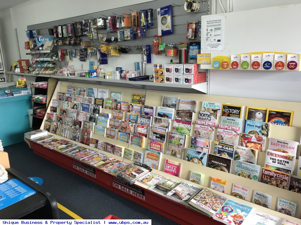 Easy one person newsagency with lotteries operations